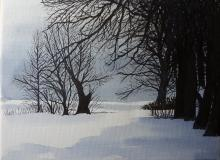 Aquarell Im Winter